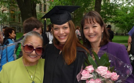My mom, Andrea and me.
