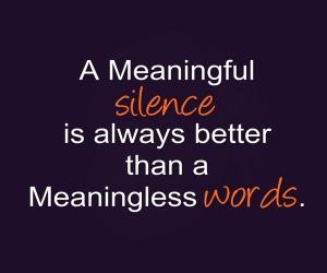 a-silence